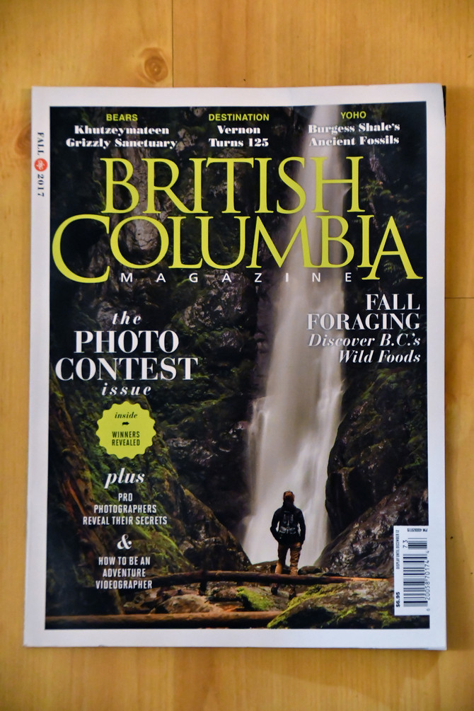 A '4 Element Photo' named as category Winner in 2017 BC Magazine Photo Contest...