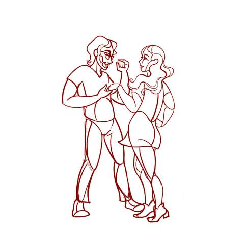 Dancing in the Museum Sketch