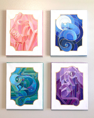 Crystal Cats   Paintings