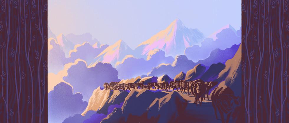 Himalaya Bound   Full Illustration