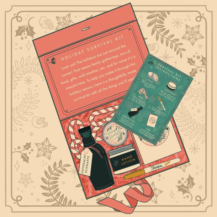 Holiday Survival Kit - Inside