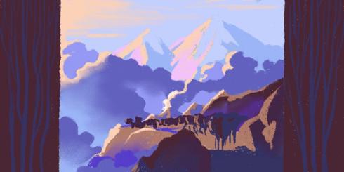Himalaya Bound   Color Sketch