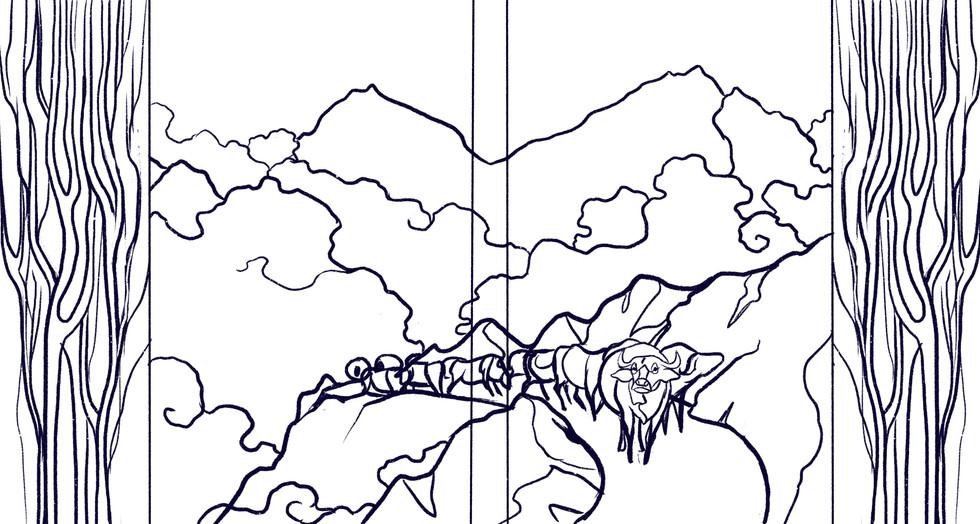 Himalaya Bound   Sketch