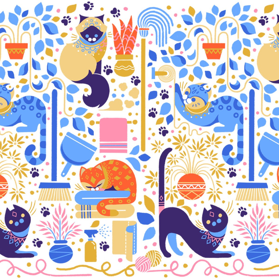 Cleaning Kitties