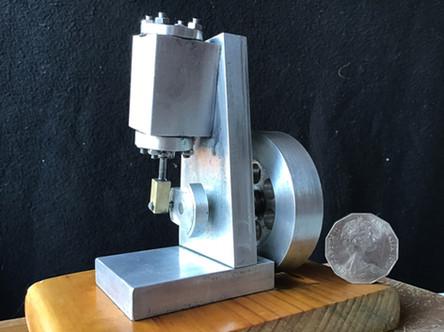 Metal work. Double acting wobbler air/steam engine