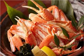 【プレミアム活蟹プラン】焼き蟹&蟹刺し!タグ付き蟹をお一人1杯&地物紅ずわい又は香箱蟹付