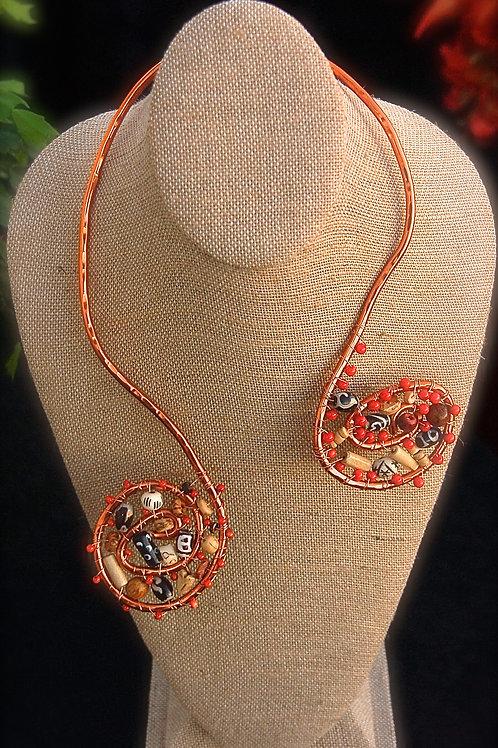 Spiral Copper Necklace