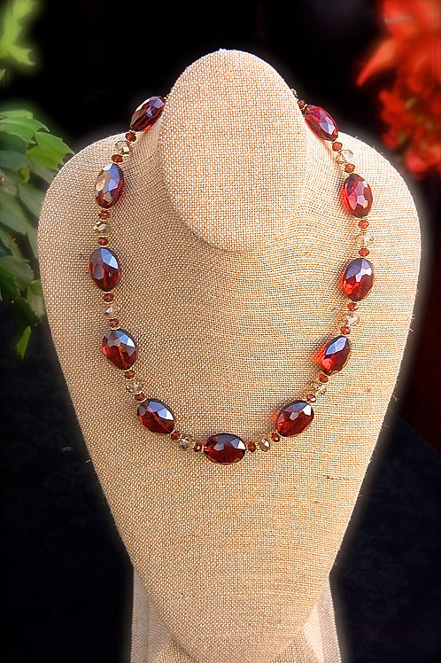 Fire-Polished Crystal Necklace