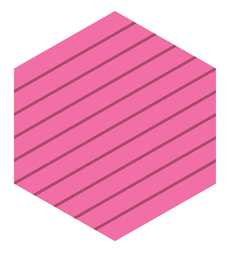 Peppermint Hex Tile one inch thick