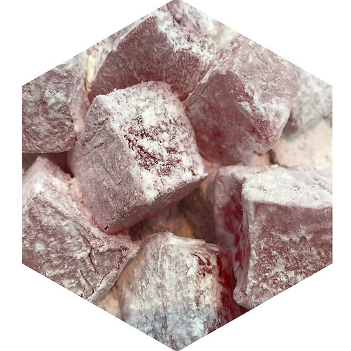 Pink Powder Cubes Hex Tile one inch thick