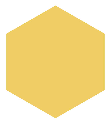 Summer Squash Hex Tile one inch thick