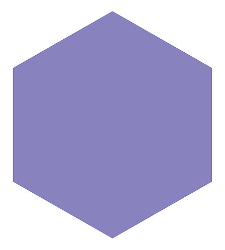 Lavender Breeze Hex Tile one inch thick