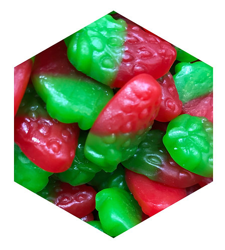Red Green Candy Hex Tile one inch thick