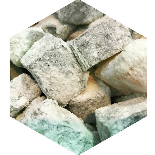 Gray Powder Cubes Hex Tile one inch thick