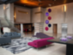 vertical modern art colorful lobby hotel lounge purples pink purple pinks