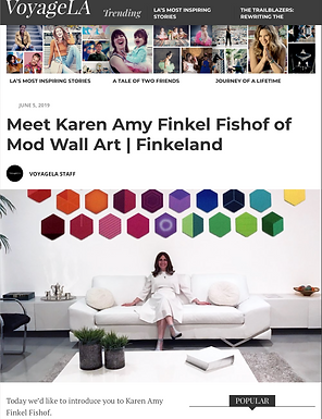VoyageLA Hidden Gems in Los Angeles, Meet Karen Amy Finkel Fishof of Finkeland and Mod Wall Art