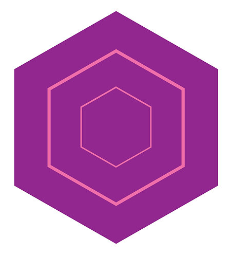 Grape Vine Hex Tile one inch thick
