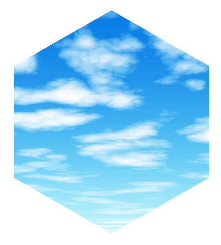 Blue Sky Hex Tile one inch thick
