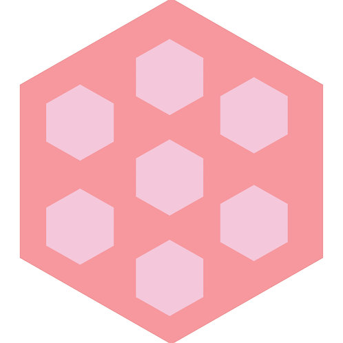 Pink Minis Hex Tile one inch thick
