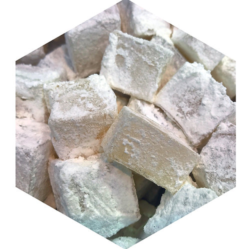 White Powder Cubes Hex Tile one inch thick