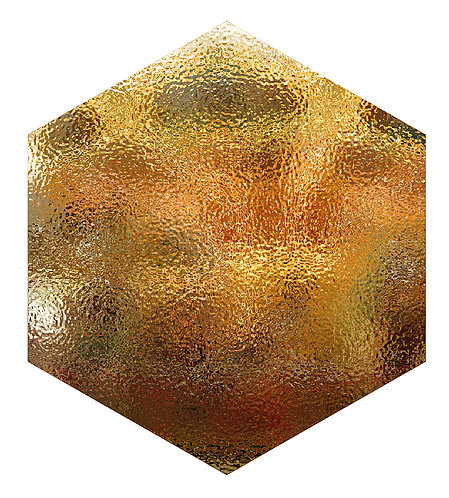 Gold Shield Hex Tile one inch thick