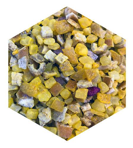 Dried Yellow Fruits Hex Tile one inch thick