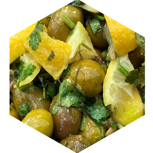 Olives and Lemons Hex Tile one inch thick