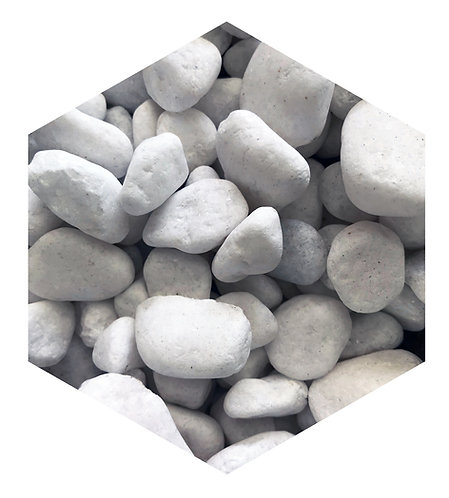 White Pebble Hex Tile one inch thick