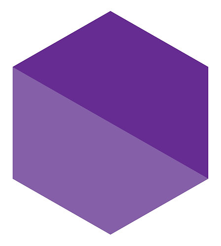 Purple Pair Hex Tile one inch thick