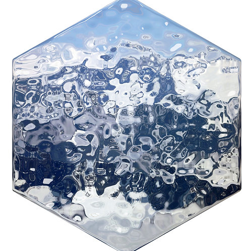 Ice Hex Tile one inch thick