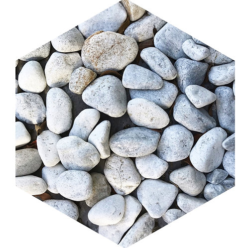 White Stones Hex Tile one inch thick