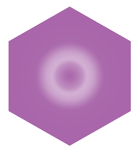 Purple Doughnut Hex Tile one inch thick