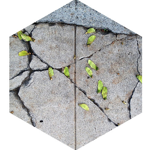 Concrete Green Nose Hex Tile one inch thick