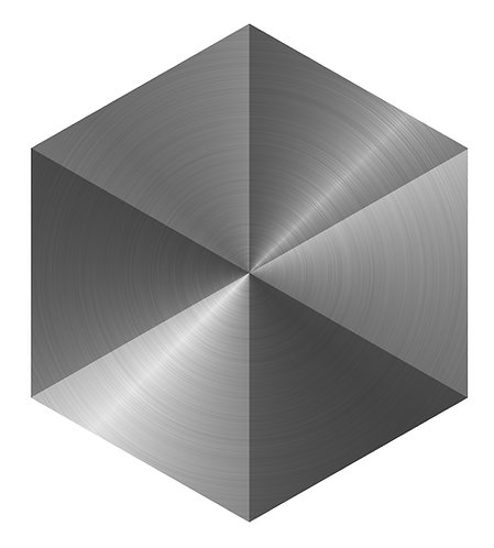 Two Tone Steel Hex Tile one inch thick