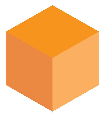 Tangerine Hex Tile one inch thick