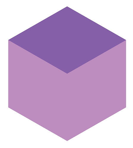 Lilac Bloom Hex Tile one inch thick