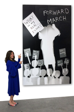 Protest (with artist for scale)