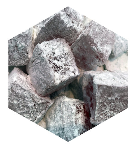 Charcoal Powder Cubes Hex Tile one inch thick