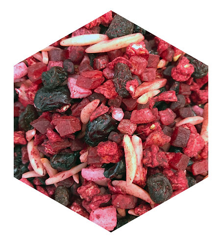 Dried Red Fruits Hex Tile one inch thick