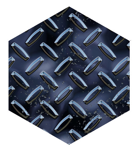 Blue Onyx Hex Tile one inch thick
