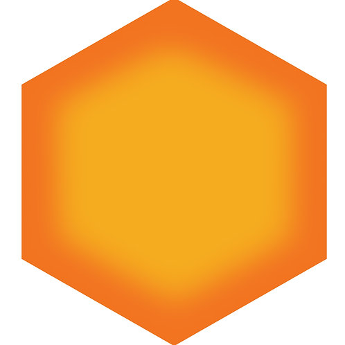Sunrise Hex Tile one inch thick
