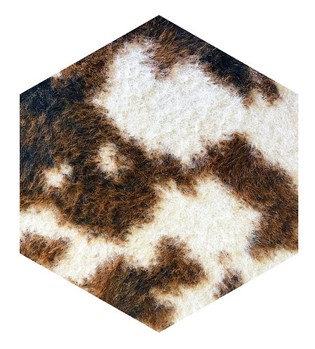 Cow Hex Tile one inch thick