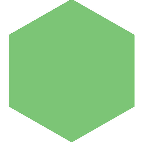 Romaine Hex Tile one inch thick