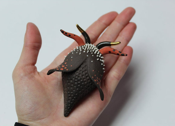 Wall-hanging Ceramic Beetle