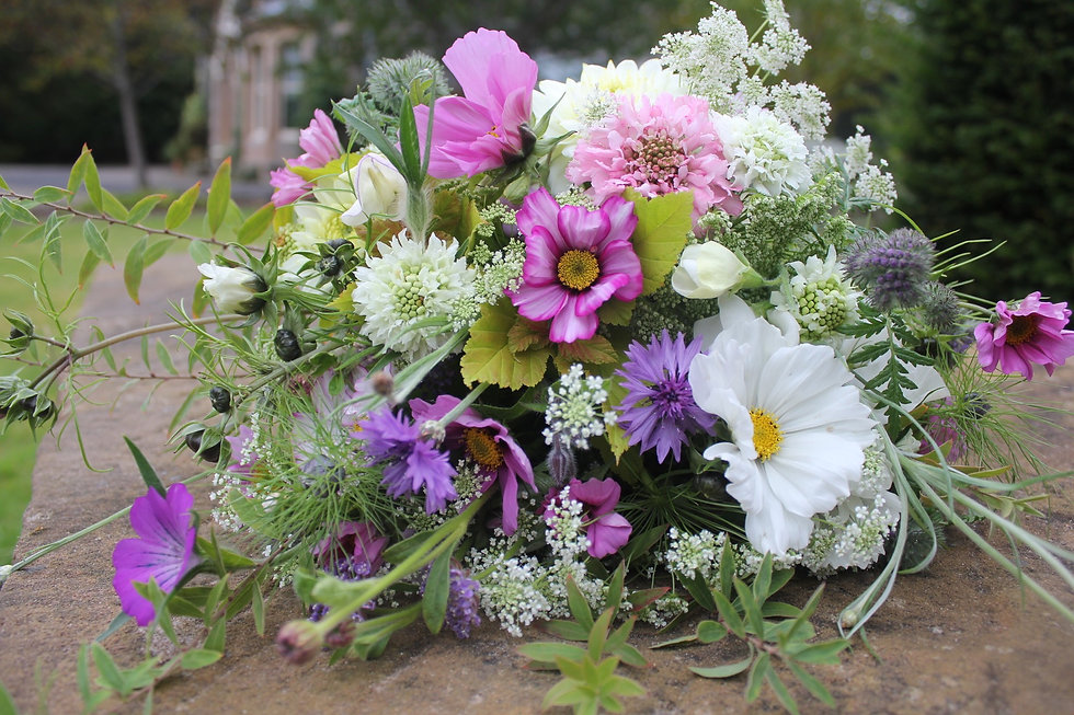 Seasonal locally grown British flower bouquet