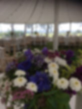 Wedding table arrangements, locally grown flowers, British flowers, Scottish flowers, Scottish Borders flowers, Peebles flowers