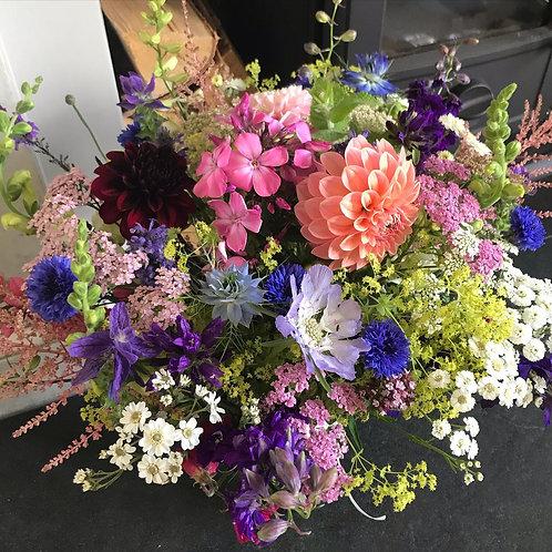 Large Jar Arrangement of Flowers