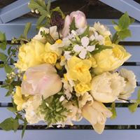 spring seasonal British grown flower bouquet