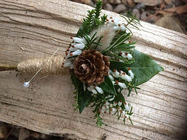 Buttonhole, British flowers, wedding flowers, natural wedding flowers, seasonal Scottish wedding flowers,