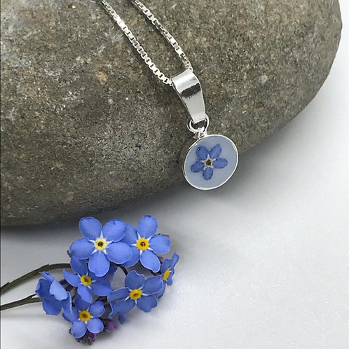 Sterling Silver Forget Me Not Pendant